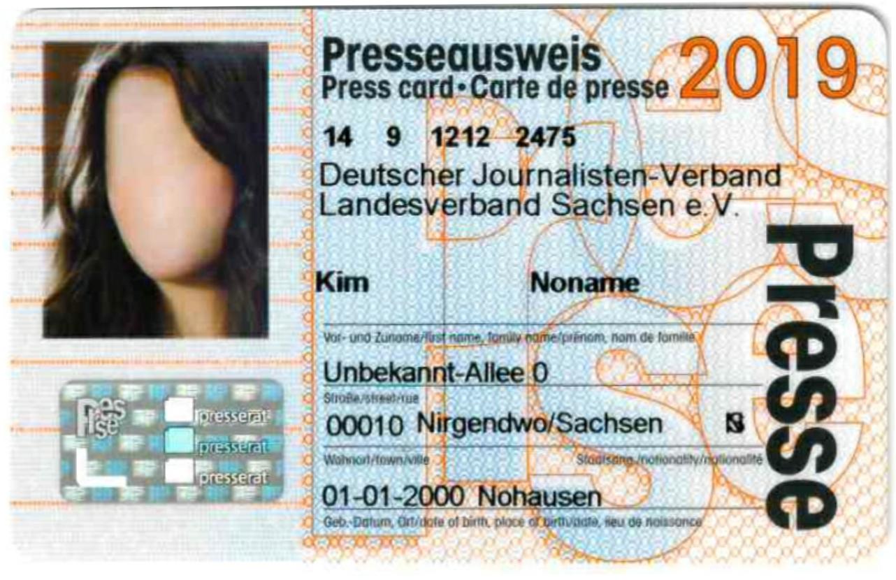 Presseausweis 20